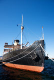 Ship fore. A photo of ship fore with ropes attached to quay Royalty Free Stock Photo