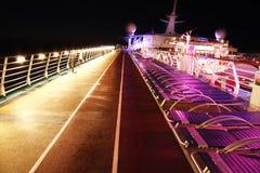 ship för kryssningdäcksnatt Royaltyfri Foto