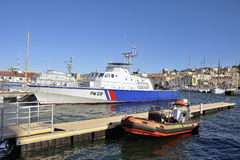 Ship of the French coastguard Royalty Free Stock Image