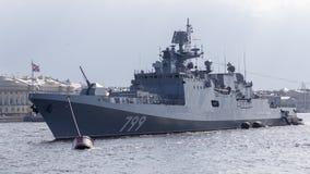 Free Ship - Frigate Admiral Makarov Stock Image - 127233401
