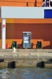 Ship fuel station Stock Image