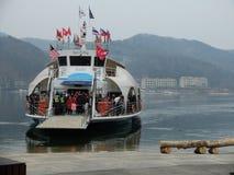 Little cruise to Nami Island! royalty free stock photos