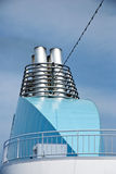 Ship funnel. Funnel on a big ship royalty free stock photos