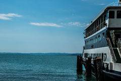 Ship. In the gardasee Royalty Free Stock Images
