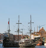 Ship in Gdansk Royalty Free Stock Photos
