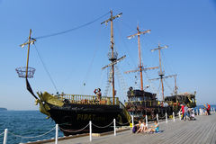 Ship in Gdynia Stock Photography