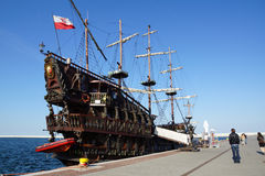 Ship in Gdynia Royalty Free Stock Image