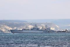 The ship General Ryabikov in Sevastopol city (Crimea) Royalty Free Stock Photography