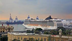 Ship in Genoa port. Italy Royalty Free Stock Photography