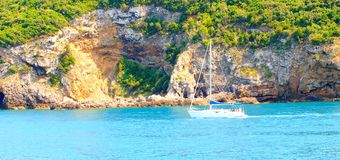 Ship in Giglio Island, Tuscany Stock Images