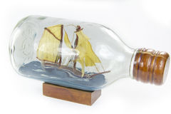 Ship in glass bottle Stock Photos