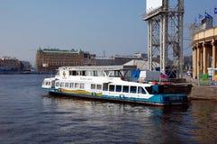 Ship. Gloria in Petrovsky stadium, St. Petersburg Royalty Free Stock Images
