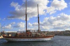 Ship in the Grand Harbour , Valletta Malta Stock Photos