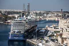Ship in Grand Harbour at Valletta, Malta Stock Photography
