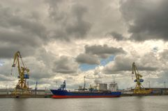Ship in habor Stock Photo