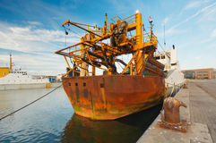Ship in harbor Royalty Free Stock Image