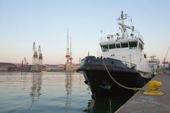Ship in Harbor. Ship in industrial harbor in Helsinki Royalty Free Stock Photography