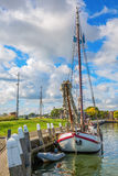Ship in the harbor of Enkhuizen Stock Photography