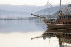 A ship in harbor Stock Photo