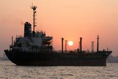Ship at the harbor of Mumbai, India Royalty Free Stock Photos