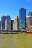 Ship in harbor of South Street Seaport Manhattan Stock Photography