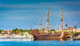 Ship in the harbor at St. Augustine, Florida. Royalty Free Stock Photography