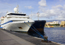 Ship in harbor.Tenerife,Can ary Islands Stock Photography