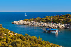 Ship in harbor at Turkey Royalty Free Stock Images