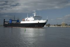 Ship in the harbour of Klaipeda (Lithuania) Stock Image