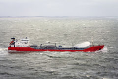 Ship with hard wind. royalty free stock photography