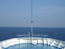 Ship Head. With blue ocean ahead stock photos