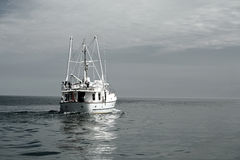 Ship heading out to Sea Royalty Free Stock Photography