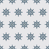 Ship Helm Vector Seamless Pattern. Helm, steering wheel seamless texture. Steering wheel symbol seamless pattern. Ship helm vector wallpaper design. EPS8 Royalty Free Stock Photo