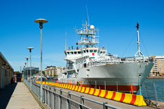 Ship at Helsinki Harbour in Finland Stock Photos