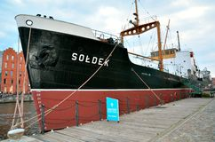 Ship in historic marine Stock Images