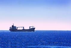 Ship the horizon Stock Photo