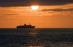 Ship on horizon a decline Royalty Free Stock Image