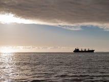 Ship on horizon. Stock Image
