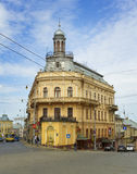 The ship house. Chernivtsi, Ukraine - 20 May, 2017: Famous touristic place - the ship house in Chernivtsi, Ukraine Royalty Free Stock Photos