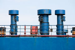 Ship hull ventilation. Blue side Stock Photography
