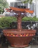 Ship i en tree Arkivfoto