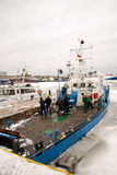 Ship in ice Stock Photo