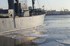 The ship in ices Stock Photography