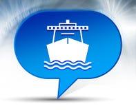 Ship icon blue bubble background royalty free stock photos