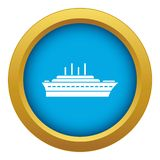 Ship icon blue vector isolated. On white background for any design royalty free illustration