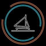 Ship icon, cruise ship - vector boat royalty free illustration