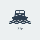 Ship icon. Vector Royalty Free Stock Images