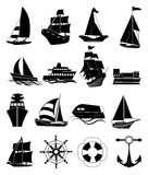 Ship icons set Stock Photography