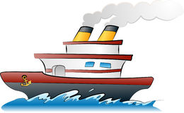 Ship illustration Royalty Free Stock Image