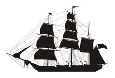 Ship illustration Royalty Free Stock Photos